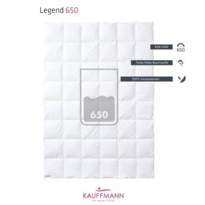 A Kauffmann Legend 650 Down Duvet